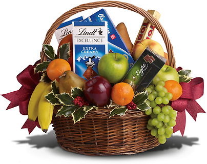 Fruits and Sweets Holiday Basket